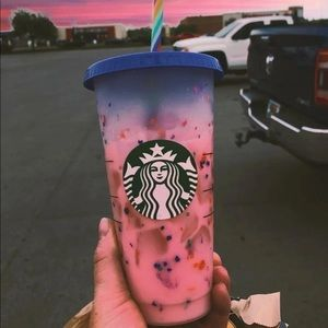 🦋Starbucks cup confetti color changing cup